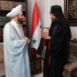 Találkozó Szíria legfőbb muzulmán vezetőjével  class=
